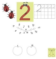 Children s math homework figure two connect vector