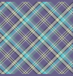 Cold colors diagonal plaid pixeled seamless vector
