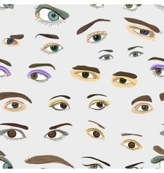 Colored Eyes set pattern vector