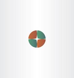 compass circle logo camping vector image