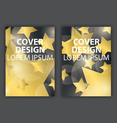 cover design poster with gold stars brochure vector image