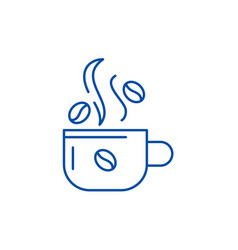 cup of coffee line icon concept cup of coffee vector image