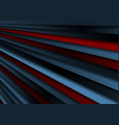 dark blue and red stripes abstract background vector image