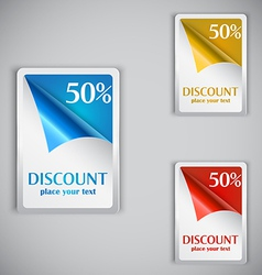 discount cards vector image