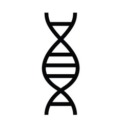 dna health icon with outline style vector image