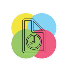 document with clock icon vector image