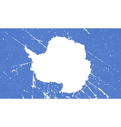 Flag antarctica with old texture vector