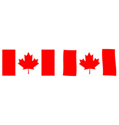 flag of canada simple and slightly waving version vector image
