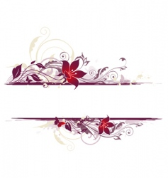 Floral background with violet flowers vector