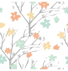floral pattern in hand drawn style vector image