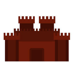 Fortress with gate icon isolated vector