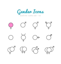 Gender icon set vector image