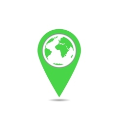 Green earth pointer vector image