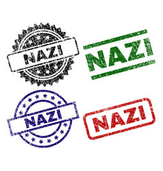Grunge textured nazi seal stamps vector