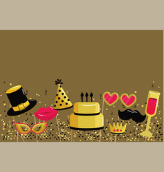 Happy birthday party with funny costume vector