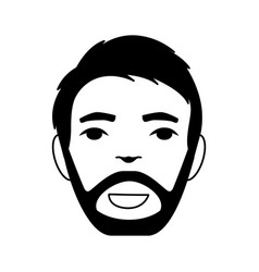 Head man avatar icon vector