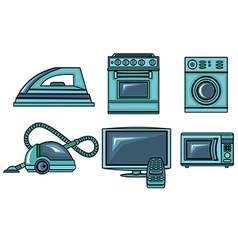 Icons of appliances vector