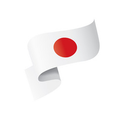 japan flag on a white vector image