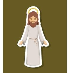 jesus cartoon of holy night design vector image