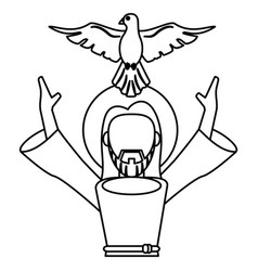 jesus christ holy spirit catholic symbol outline vector image
