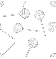 lollipops black and white hand drawn sketch vector image