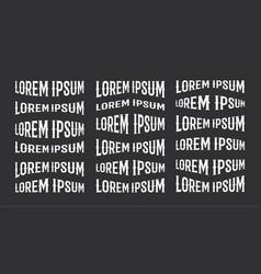 lorem ipsum logo design element template vector image