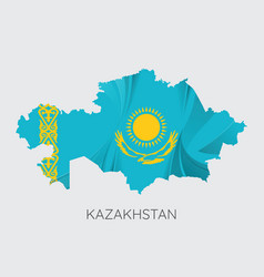 map kazakhstan vector image