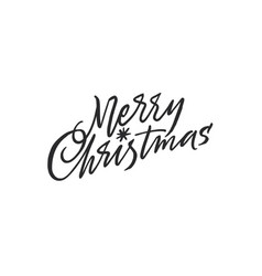 merry christmas lettering with a star vector image