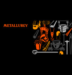 Metallurgical background design vector