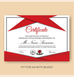 Modern verified certificate background template vector