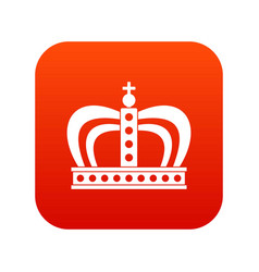 Monarchy crown icon digital red vector