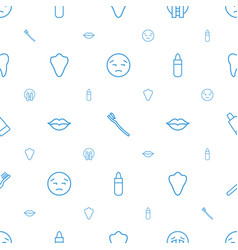 Mouth icons pattern seamless white background vector