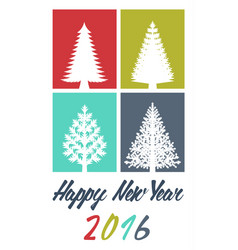 new years greeting card vector image