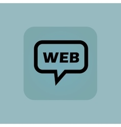 Pale blue WEB message icon vector image