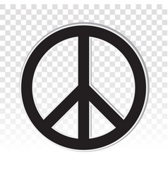 Peace sign icon for applications and websites vector