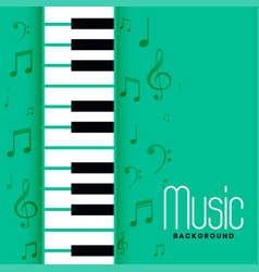 Piano and musical notes melody background design vector
