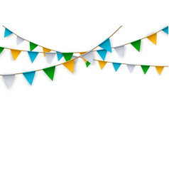 realistic isolated party flags for vector image