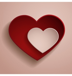 Red and white hearts vector image