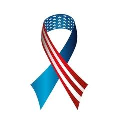 ribbon america usa vector image