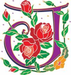 rosette letter J vector image