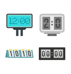 score table icon set flat style vector image