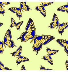 Seamless texture flight Butterfly Inachis io vector