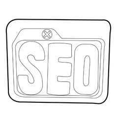 Seo icon outline style vector