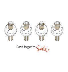 Smile concept with sheep vector