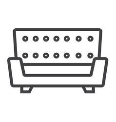 sofa line icon furniture and interior vector image