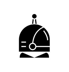 spaceman head icon black vector image