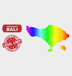 Spectrum mosaic bali map and grunge legal limit vector