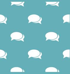 speech bubbles pattern seamless blue vector image