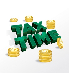 Tax time income concept vector