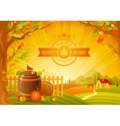 Thanksgiving of beautiful vector image